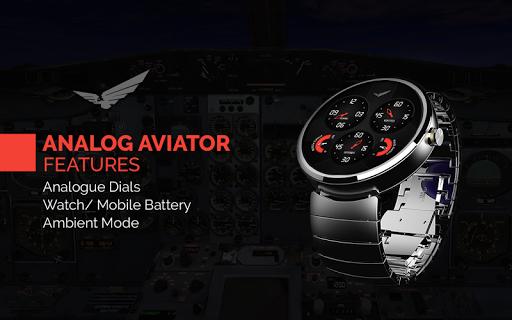 Analog Aviator Watch Face