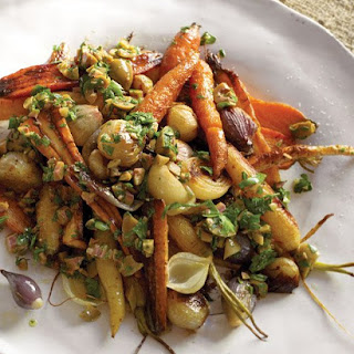 Roasted Carrots, Parsnips, and Shallots.