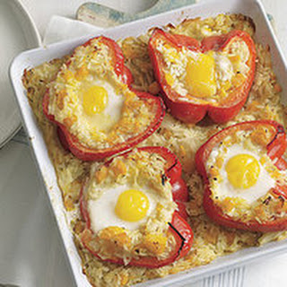 Baked Nestled Eggs.