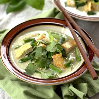 Thai Green Curry with Tofu and Veggies.