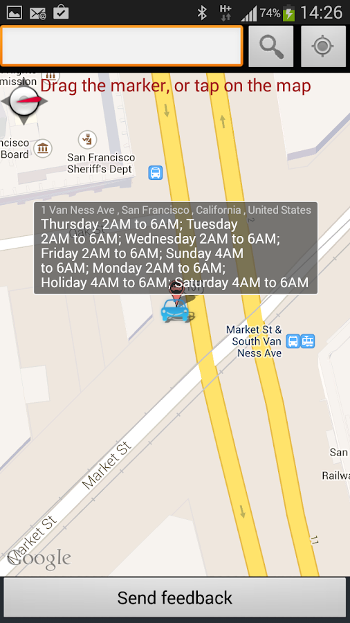 San Francisco Street Cleaning- screenshot