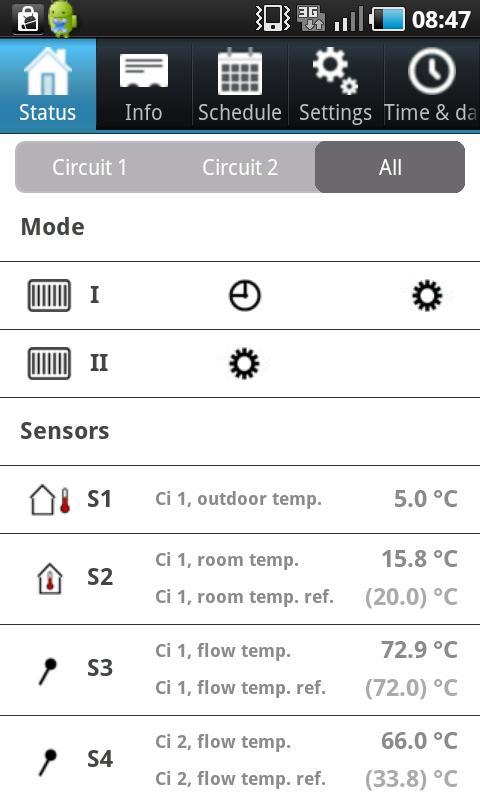ECL Comfort 310 Portal- screenshot