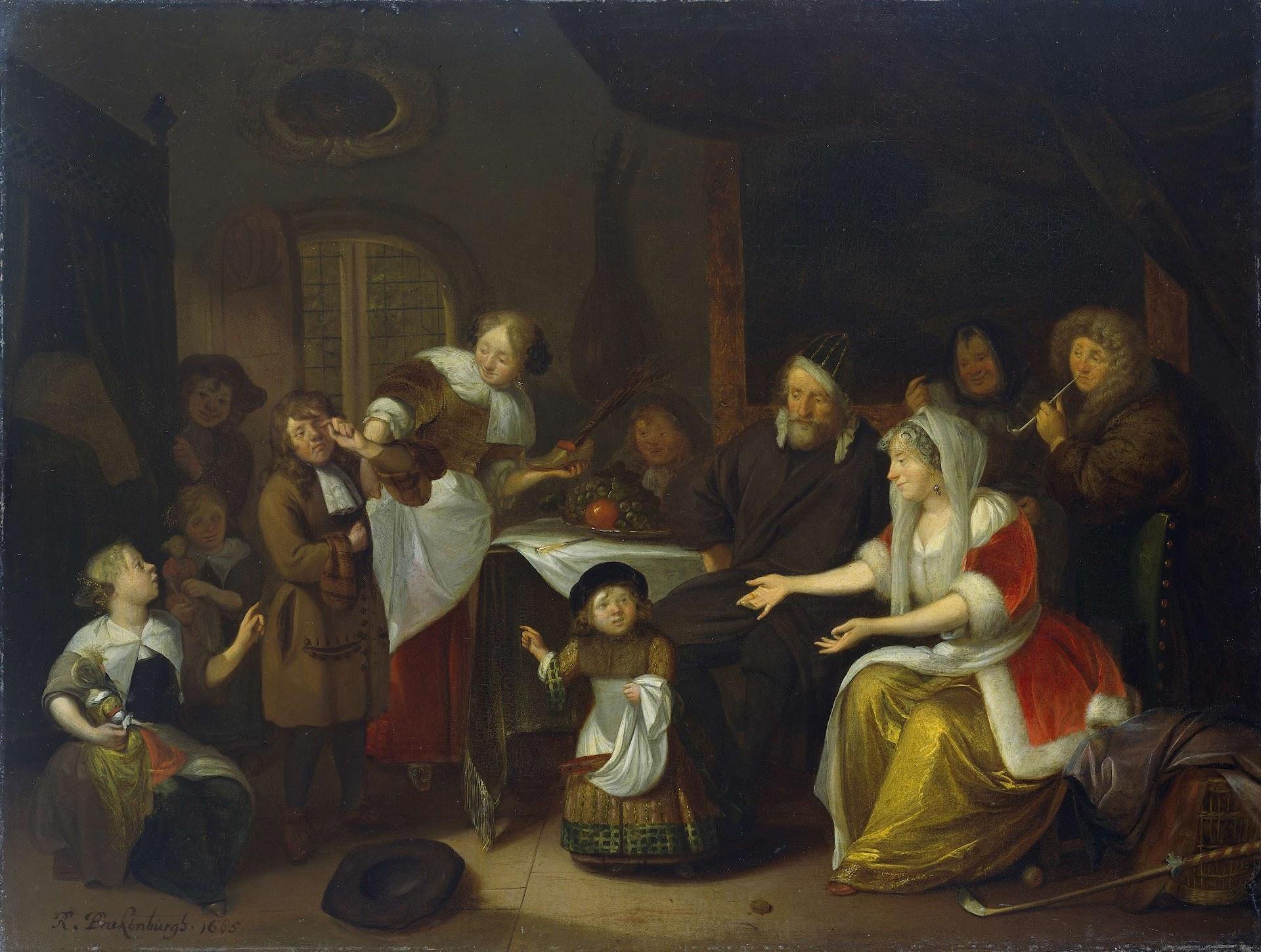Sint Nicolaasfeest Rijksmuseum.Het Sint Nicolaasfeest Richard Brakenburg 1685 Rijksmuseum