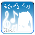 Hatsune Miku digital clock icon
