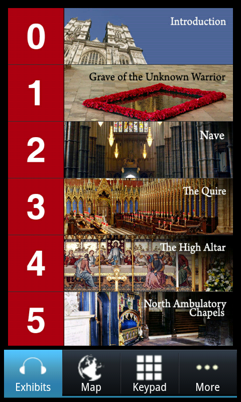 Westminster Abbey–Official App- หน้าจอ