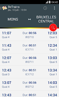 BeTrains - SNCB Belgium - screenshot thumbnail