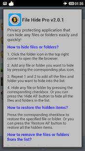 File Hide Pro - screenshot thumbnail