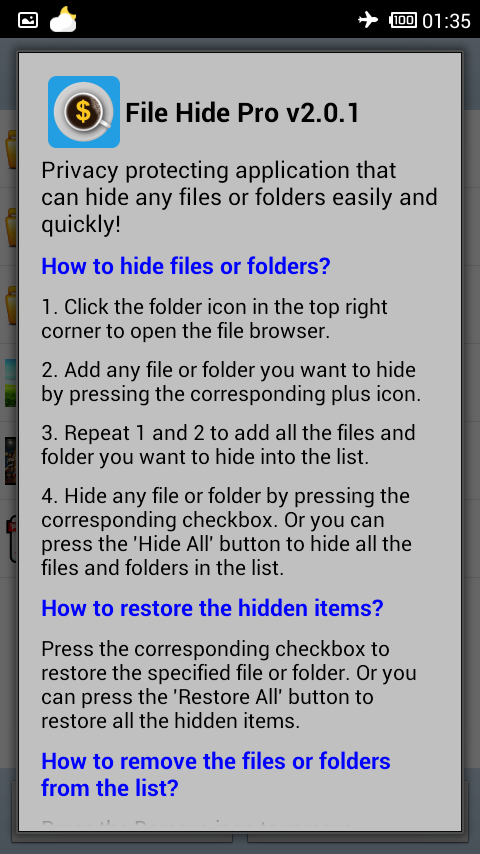File Hide Pro - screenshot