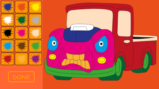 Child Car Coloring