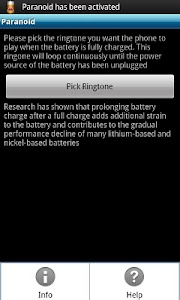 Paranoid (Battery Alert) screenshot 0