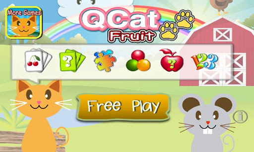 QCat - 學齡前7合1教育遊戲 為幼兒和兒童所設計:水果
