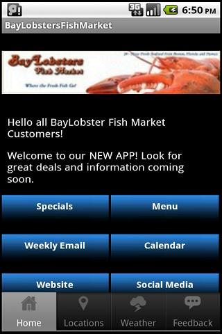 BayLobsters Fish Market- screenshot