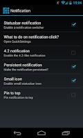 Screenshot of MAPPZ Quick Settings