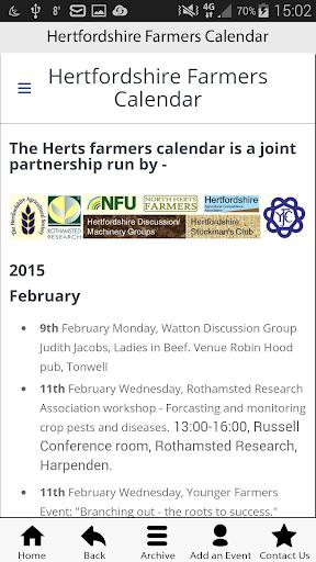 Hertfordshire Farmers Calendar