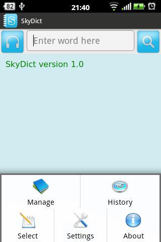 Từ điển SkyDict - screenshot