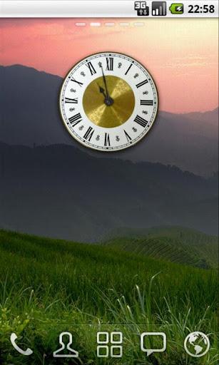 Classic Gold Clock Widget