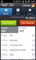 Screenshot of CashBase