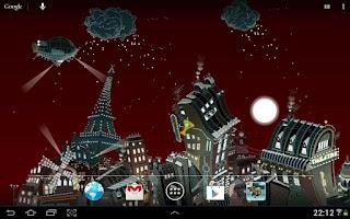 Screenshot of Paris winter LWP