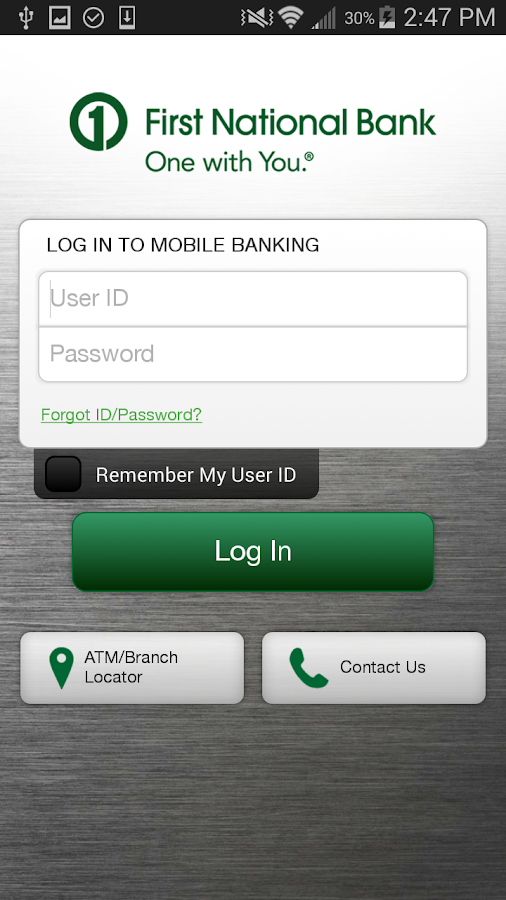 First National Bank of Omaha- screenshot