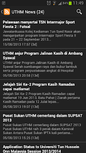UTHM News - screenshot thumbnail