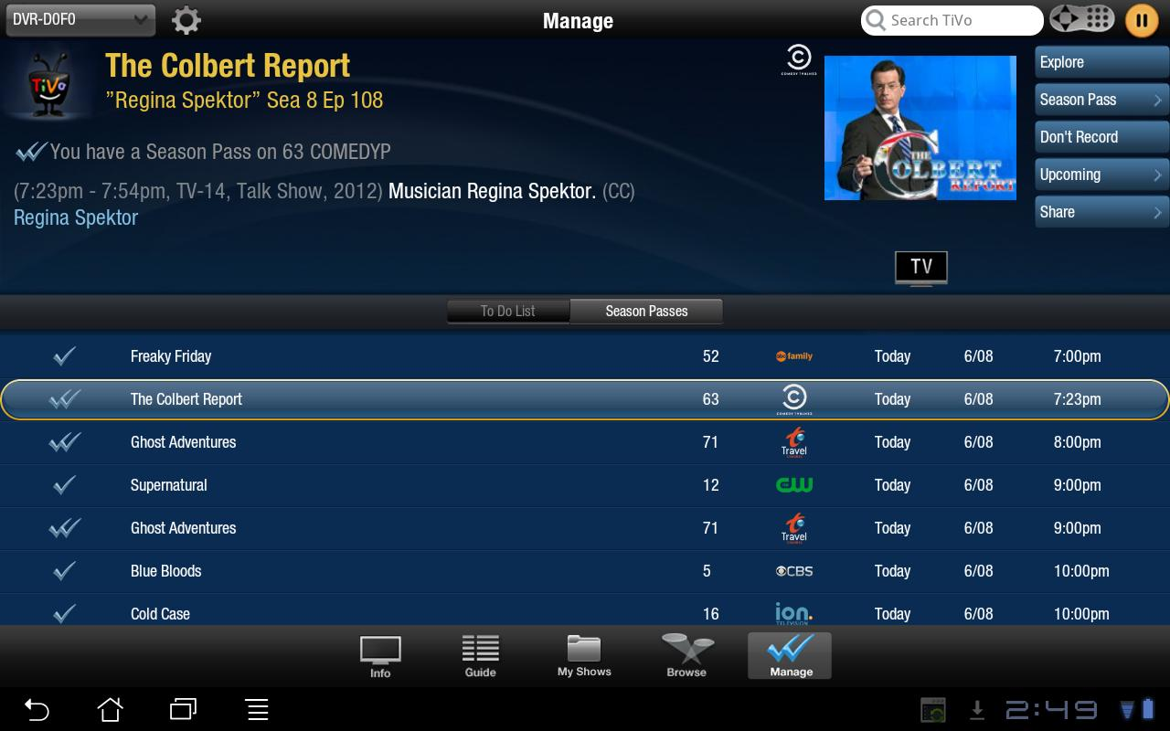 TiVo for Tablets - screenshot