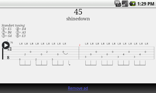 Guitar what is guitar tablature : Guitar Tab Player - Android Apps on Google Play