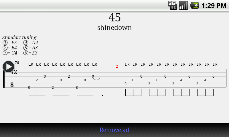 Guitar best guitar tabs : Guitar Tab Player - Android Apps on Google Play