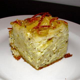Mr. Braciole's spaghetti pie