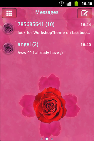 GO SMS Pink Rose Cute Buy