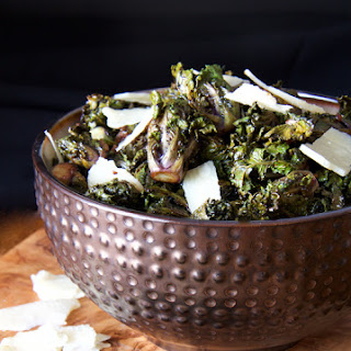 Balsamic Roasted Kale Sprouts with Parmesan Shards