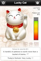 Screenshot of Lucky Cat with Daily Fortune