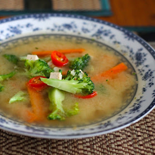 Five Minute Feel Better Miso Vegetable Soup.