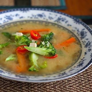 Five Minute Feel Better Miso Vegetable Soup.