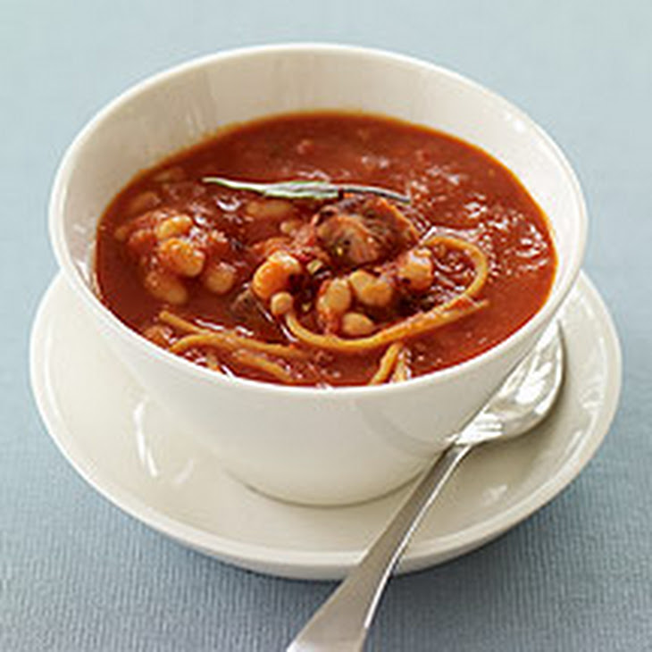 Italian Pasta and Bean Soup with Sausage Recipe