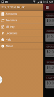 Screenshot of 1st Capital Bank Mobile