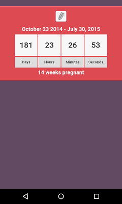 Pregnancy Countdown - screenshot