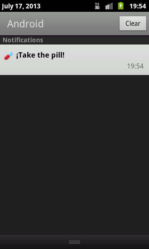 Contraceptive pill- screenshot
