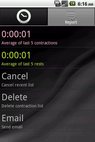 Contraction Calculator - screenshot