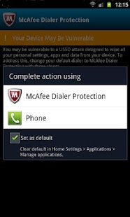 McAfee Dialer Protection - screenshot thumbnail