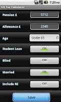 Screenshot of UK Tax Calculator