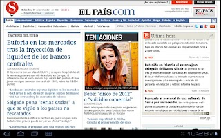 Screenshot of La Prensa (España)
