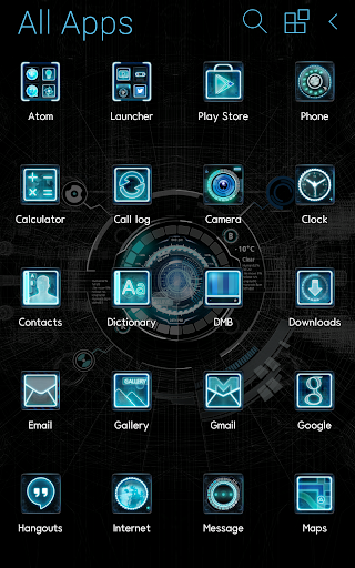【免費個人化App】Black mechanic Atom Theme-APP點子