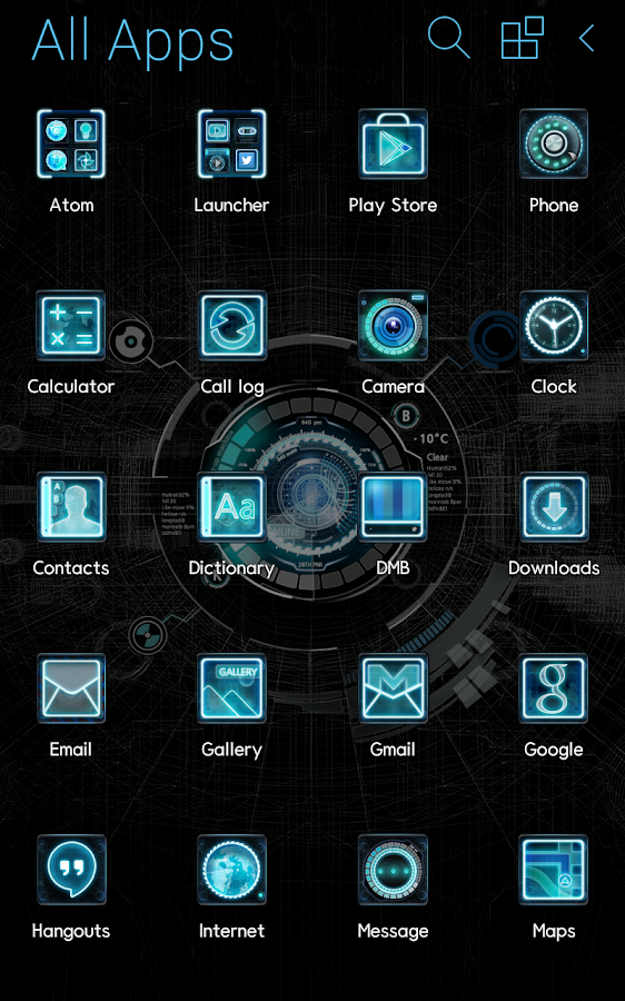 Black mechanic Atom Theme - Android Apps on Google Play