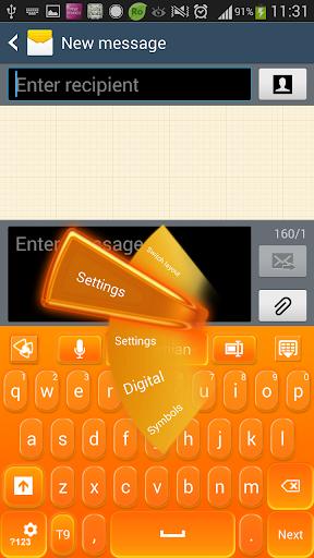 GOキーボードオレンジグロー