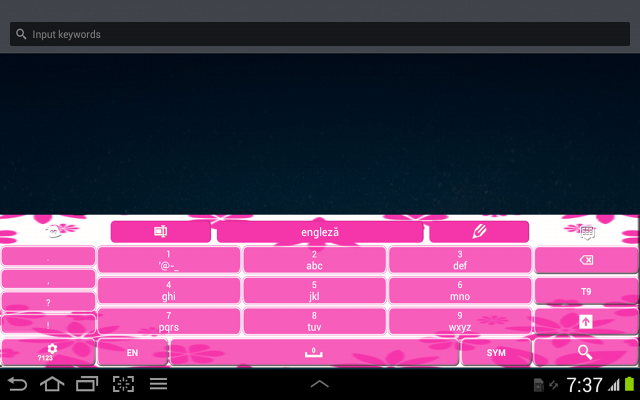 Keyboard Color Hot Pink- screenshot