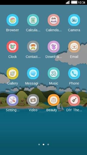 【免費個人化App】Island C Launcher Theme-APP點子