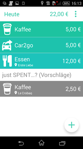 just SPENT - expense tracker
