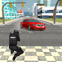 la police vs gangster Parking icon