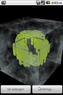 Android Ice Cube 3D Wallpaper - screenshot thumbnail