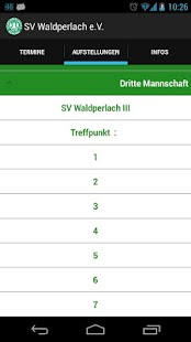 SV Waldperlach App- screenshot thumbnail